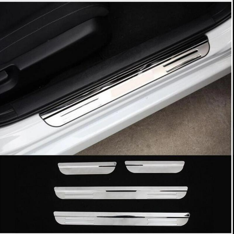 car sticker styling for 2016 2017 honda civic accessories stainless door sill scuff plate cover trim guard protector door sills timex timex t2m874