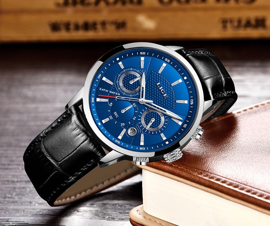 HTB1SvO0aSSD3KVjSZFKq6z10VXat LIGE 2020 New Watch Men Fashion Sport Quartz Clock Mens Watches Brand Luxury Leather Business Waterproof Watch Relogio Masculino