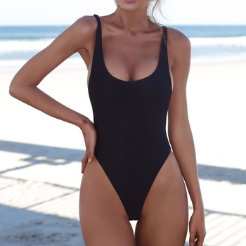 Classic High Cut One-Piece Swimsuit 1