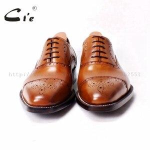 Image 3 - Мужские туфли броги ручной работы на шнурках cie, Кожаные Туфли оксфорды ручной работы коричневого цвета, OX290