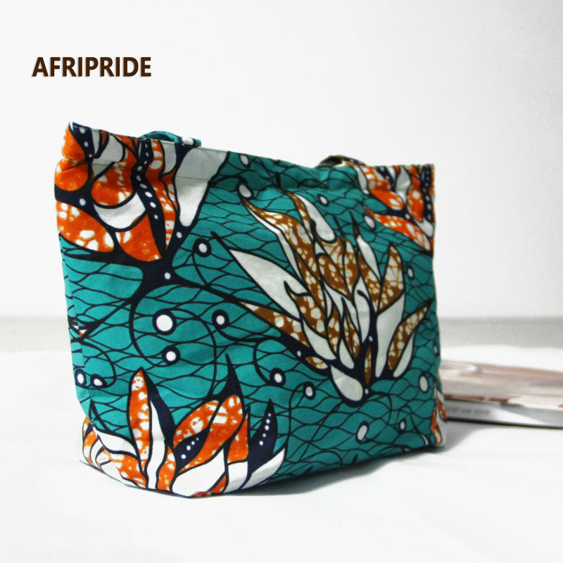 2017 fashion women shouder bag african women luggage print wax cotton private customA6B02