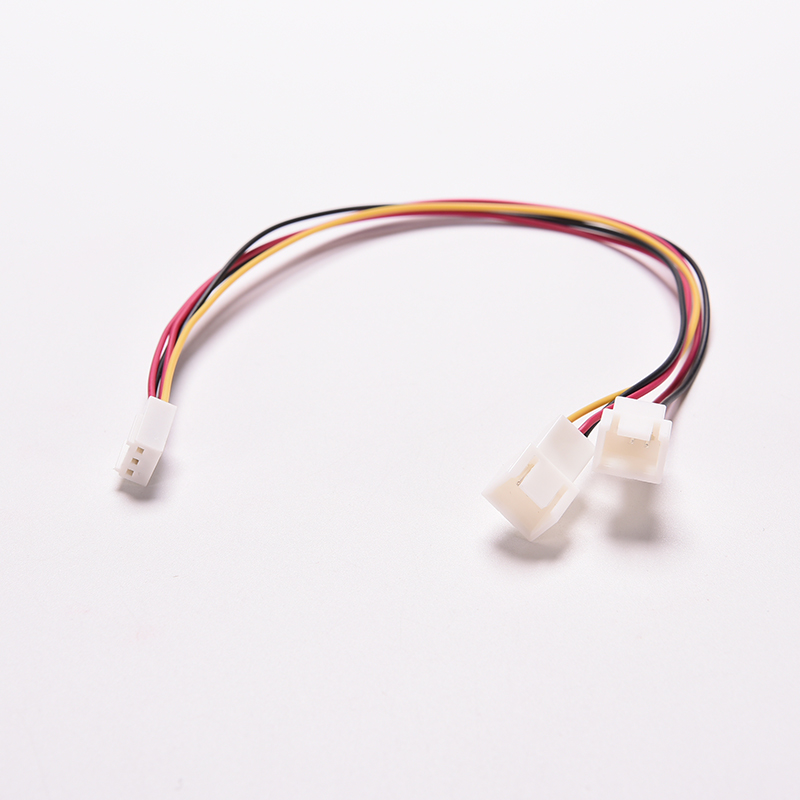 3Pin Female Y-Splitter to Dual 3 Pin Male Mainboard Power Cable Adapter PC