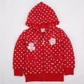 red kids hoodies for girls dot children wear jacket zipper new year Sweatshirts for teenage girls sports suits cotton clothing