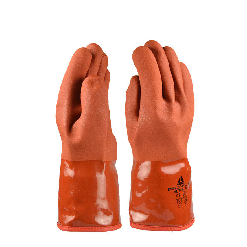 5 pairs/lot, professional plus velvet anti-cold vulcanized gloves waterproof wear-resistant acid and alkali control glo anti acid and alkali chemical corrosion fisheries agriculture latex rubber gloves labor supplies black