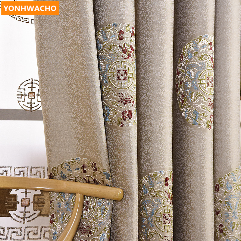 Custom curtains classical luxury living room Chinese bedroom  shading jacquard cloth blackout curtain tulle panel valance B391Custom curtains classical luxury living room Chinese bedroom  shading jacquard cloth blackout curtain tulle panel valance B391