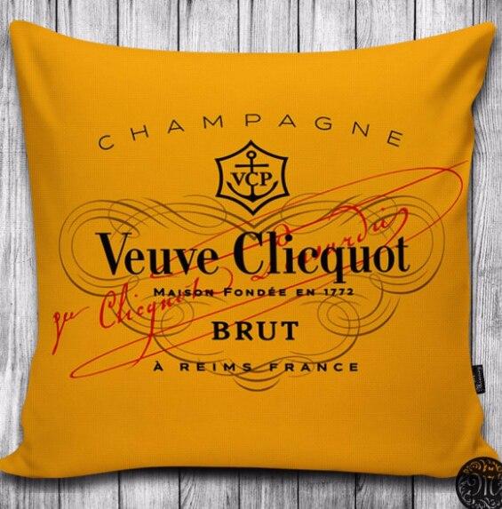 veuve champagne pillow print pillow