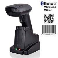 Issyzonepos Bluetooth Senza Fili Scanner 2D QR Codici A Barre A Mano Libera Dello Schermo di lettore di Codici A Barre Per Android iOS Finestre Mac Auto Continua-in Scanner da Computer e ufficio su