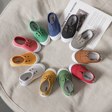 Children's Casual Shoes Kids Canvas Sneakers Candy Colors Flats For Toddlers