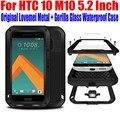 Для HTC 10 M10 5.2 ДЮЙМОВЫЙ Оригинал Lovemei Алюминий Металл + gorilla Glass Шок Падение Водонепроницаемый Батареи case для HTC 10 M101