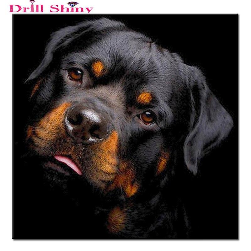 Dog Full Round Diamond Painting Cross Stitch Diamond Mosaic Craft Diamond Embroidery Diy Needlework Gift Home Paintings