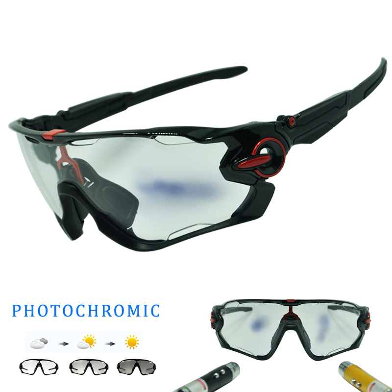 Unisex Photochromic Cycling Glasses TR90 Cycling Goggle Cycling Eyewear Bike Glasses For Cycling Sunglasses UV400 4 Lenses carshiro 9183 outdoor cycling uv400 protection sunglasses w replacement lenses black red