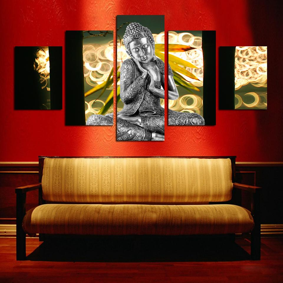 hot sell free shipping wall art buddha painting on canvas abstract print pictures home decor no