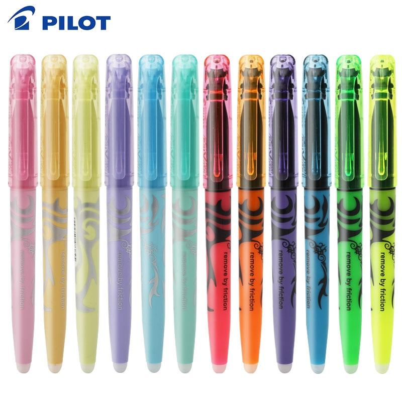 PILOT SW-FL Frixion 6pcs Erasable Highlighter Pastel Color Fluorescent Marker Pen 12 Colors Japan
