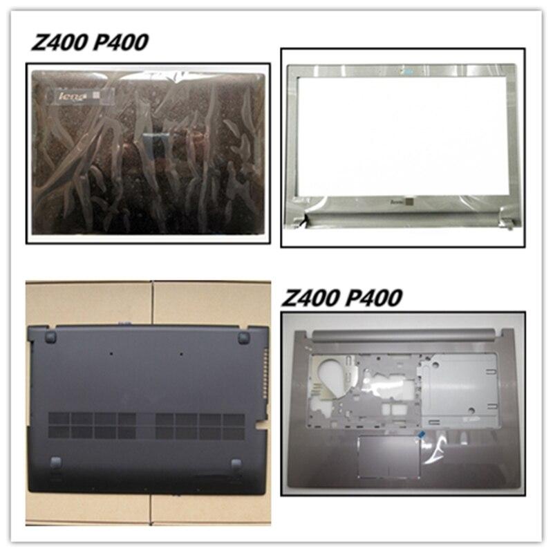LCD Back Cover Top Case Bezel Front Frame Housing Case For Lenovo Z400 P400 Palmrest Upper Cover Bottom Base Cover Lan Port