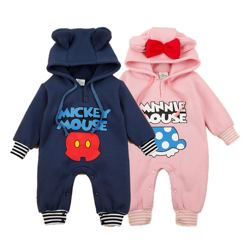 Baby Boy Clothes Long Sleeve Hooded Baby Romper Polar Fleece Baby Girl Clothing Cartoon Roupas Bebe Toddler Kids Jumpsuits baby girl 1st birthday outfits short sleeve infant clothing sets lace romper dress headband shoe toddler tutu set baby s clothes