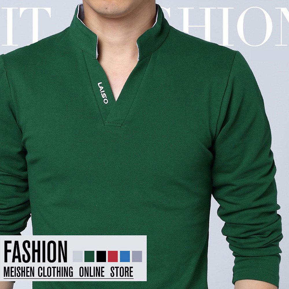 8cfe646dd02e Hot Sale New 2019 Fashion Brand Men polo shirt Solid Color Long-Sleeve Slim  ...