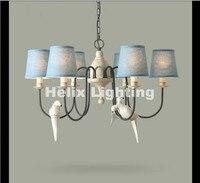 Бесплатная доставка, скандинавский винтажный кулон с птицами, подвесные светильники для столовой, ресторана, кафе, подвесной светильник