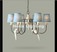 Free Shipping Nordic Vintage Birds Pendant Lights Design Hanging Lamps for Dining Room Restaurant Cafe Hanging Suspension Light