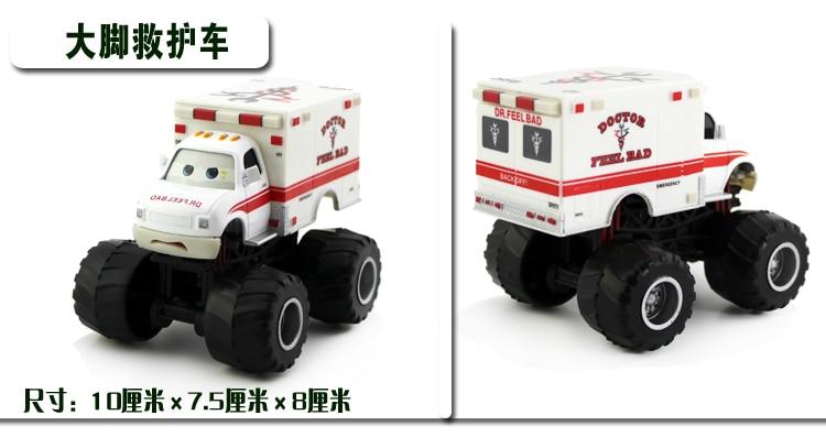 Pixar Cars Monster Truck Mater Dr Feel Bad Diecast Toy Car For