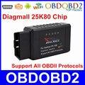 Original Diagmall WIFI 25K80 Chip OBD2 Diagnostic Scanner Melhor Do Que Suporte Todos Os Protocolos OBDII ELM 327 V1.5 ELM327 Wi-fi