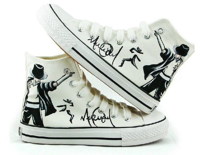 free shipping 2013 hand painted shoes mj michael jackson code shoes high canvas lovers shoes. Black Bedroom Furniture Sets. Home Design Ideas