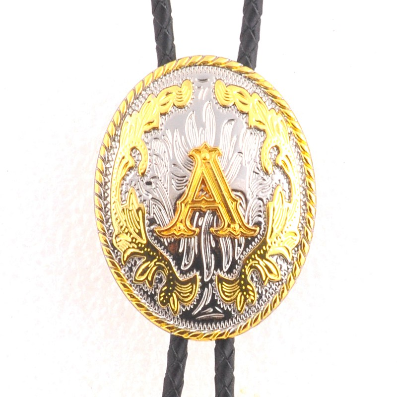 Two - Color Letter Upscale BOLO TIE American Original Surname Popular Letter Tie Knot