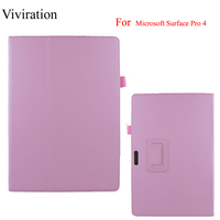 PU Leather Flip Stand Cover Smart Case For Microsoft Surface Pro 4 Ultra Slim Protect Shell