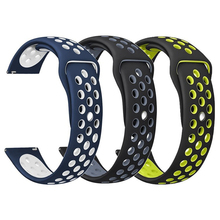 20mm 22mm Sports silicone Band for Samsung Galaxy Gear S3/S2/Gear Sport Strap For Huami Amazfit Bip/Amazfit 2 Smart Watchband