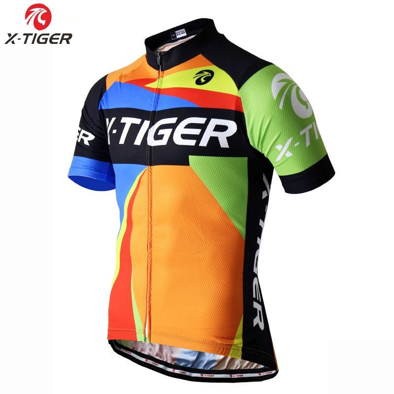 Prix pour X-TIGER 2017 Pro Cycling Clothing D'été 100% Polyester Vélo Sport VTT Vélo Clothing Maillot Ciclismo Jersey
