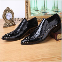 Italy Brand Fashion Men Party Wedding Shoes Studded Handmade Loafers Men Snakeskin Leather Shiny Black Dress Shoes Size 47 piergitar brand new burgundy color velvet men handmade shoes party and wedding men tassel loafers plus size men s dress shoes