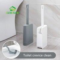 Jiangchaobo toalete escova de limpeza lavagem do banheiro escova de toalete casa sem ângulo cego escova de toalete com base conjunto