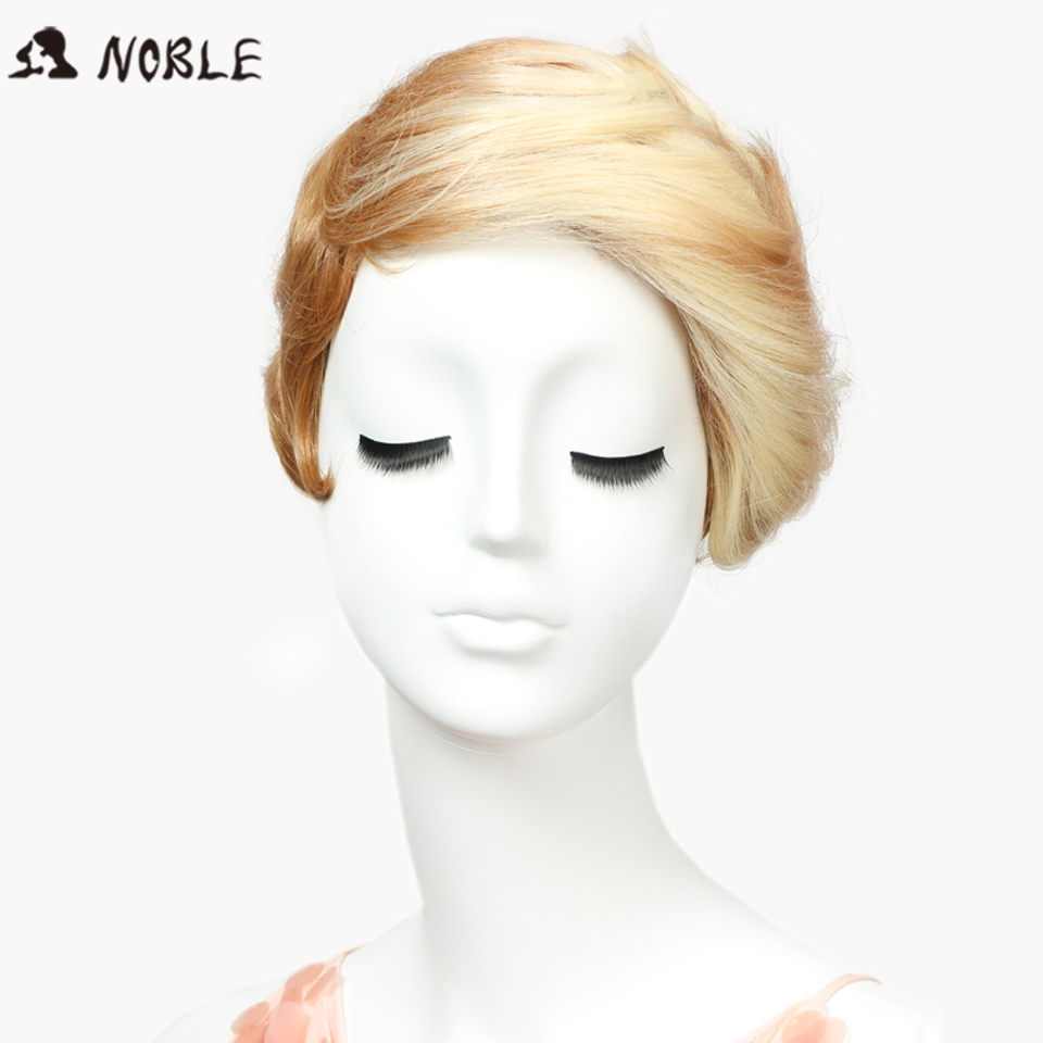Noble Perruque Cheveux Synthetic No Lace Wigs 8 Inch Short Wavy Blonde Wigs Heat Resista ...