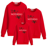 nothing hoody for family outfits clothes floral girl mother daughter clothing mommy matching look and me baby dress mom rose set