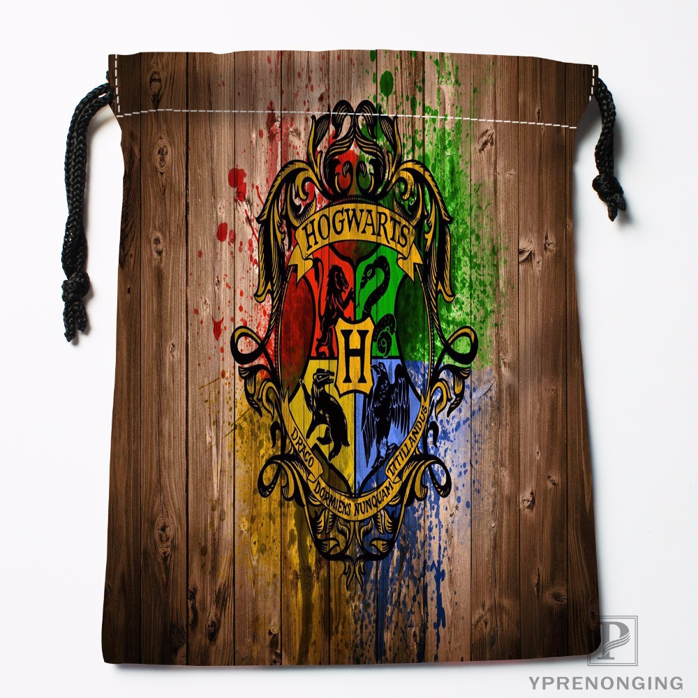 Custom Gryffindor Logo Drawstring Bags Printing Fashion Travel Storage Mini Pouch Swim Hiking Toy Bag Size 18x22cm#180412-11-16