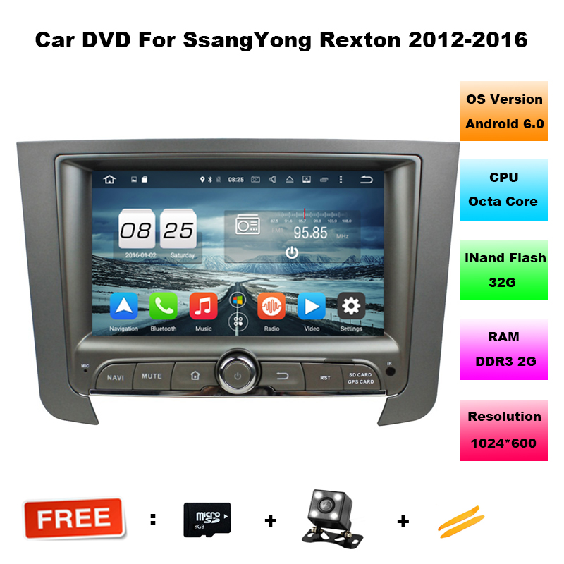7 inch 2GB RAM Octa Core Android 6 0 Car DVD Player For SsangYong REXTON 2012