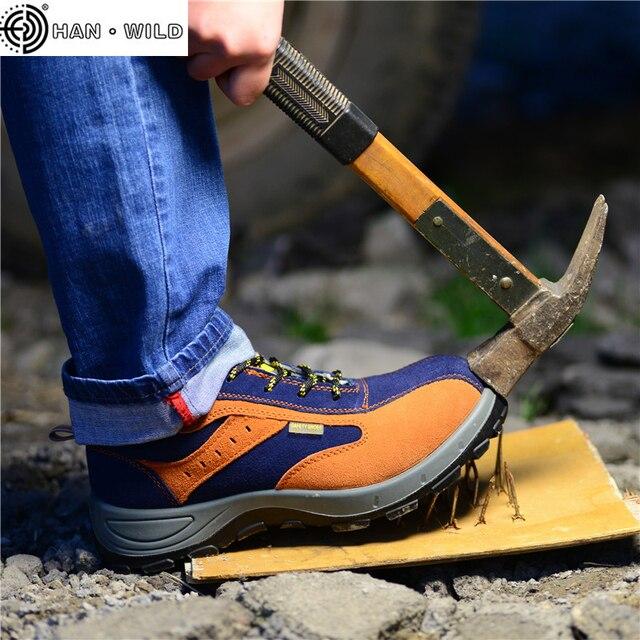 Kış Erkekler Iş Güvenliği Ayakkabıları Çelik Burunlu Sıcak Nefes erkek Rahat Botlar Delinme Geçirmez Emek Sigorta Ayakkabı