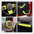 Volante de Ajuste de Aire Acondicionado Ventilación Interior Accesorios Kits ABS Manija De la Puerta Cubierta Para Jeep Wrangler JK 4 Door
