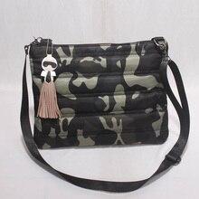 2016 heißer Verkauf frauen Hinunter Baumwolle Raum Umhängetasche Camouflage Umhängetasche Frauen Winter Fashion Messenger Bags Bolsa Feminina