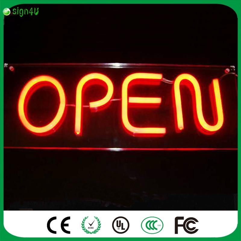Custom Design Your Own LED Neon Sign Custom Signs Bar open