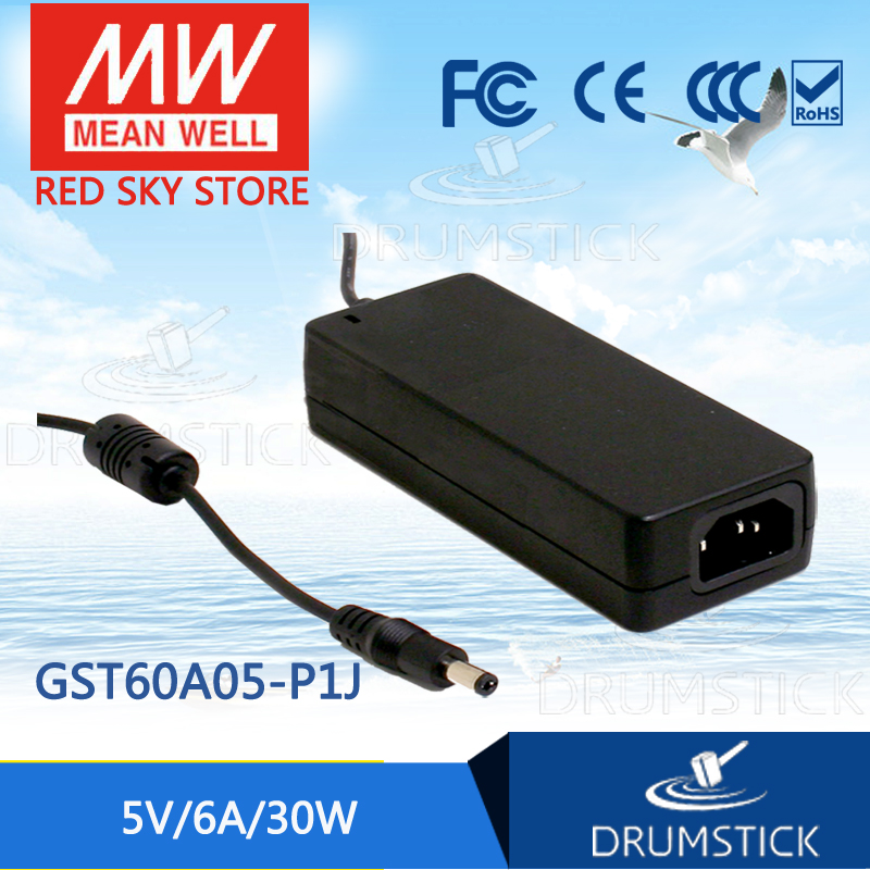 Selling Hot MEAN WELL GST60A05-P1J 5V 6A meanwell GST60A 5V 30W AC-DC High Reliability Industrial Adaptor hot mean well gsm60a12 p1j 12v 5a meanwell gsm60a 12v 60w ac dc high reliability medical adaptor