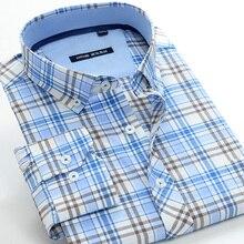 5XL 6XL 7XL 8XL 9XL 10XL Plus Größe Klassische herren Kariertes Hemd Business Casual Mode Baumwolle mit Langen ärmeln shir Männlich Marke Kleidung