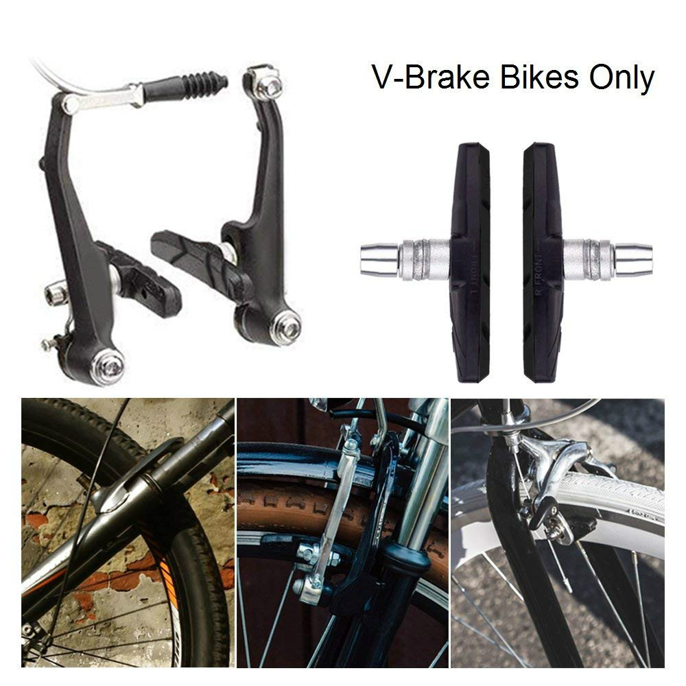 2 PAIRS V BRAKE BLOCKS CYCLE BIKE BICYCLE MTB MOUNTAIN BIKE BRAKE BLOCKS PADS EN