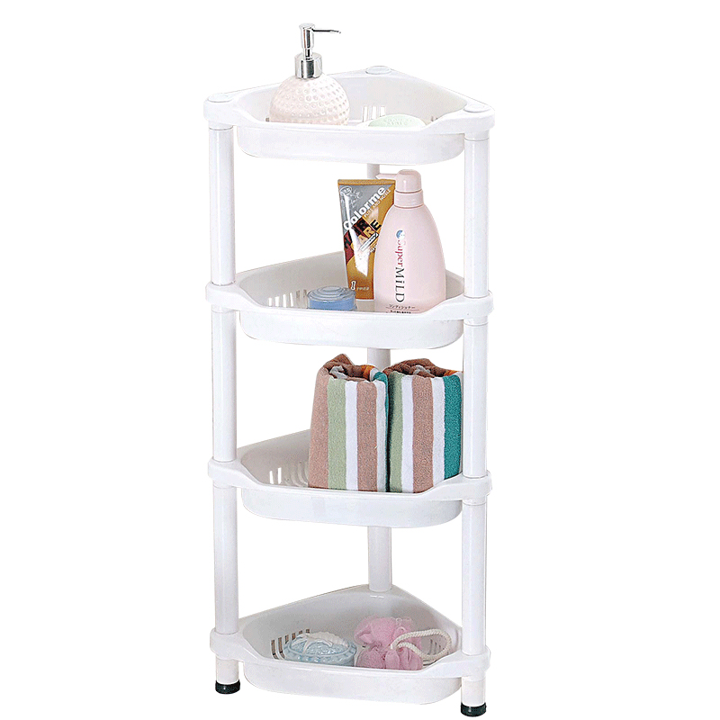 kitchen corner shelf tables set floor type diy combination rack 4 layers bathroom living room storage shelves sq 1967