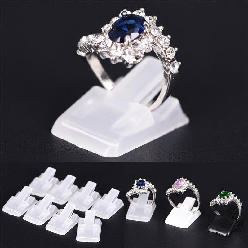 10 Teile/los Ring Zeigen Kunststoff Frosted Schmuck Displays Halter Für Ring, Dekoration Stehen Neue Ankunft Ungleiche Leistung