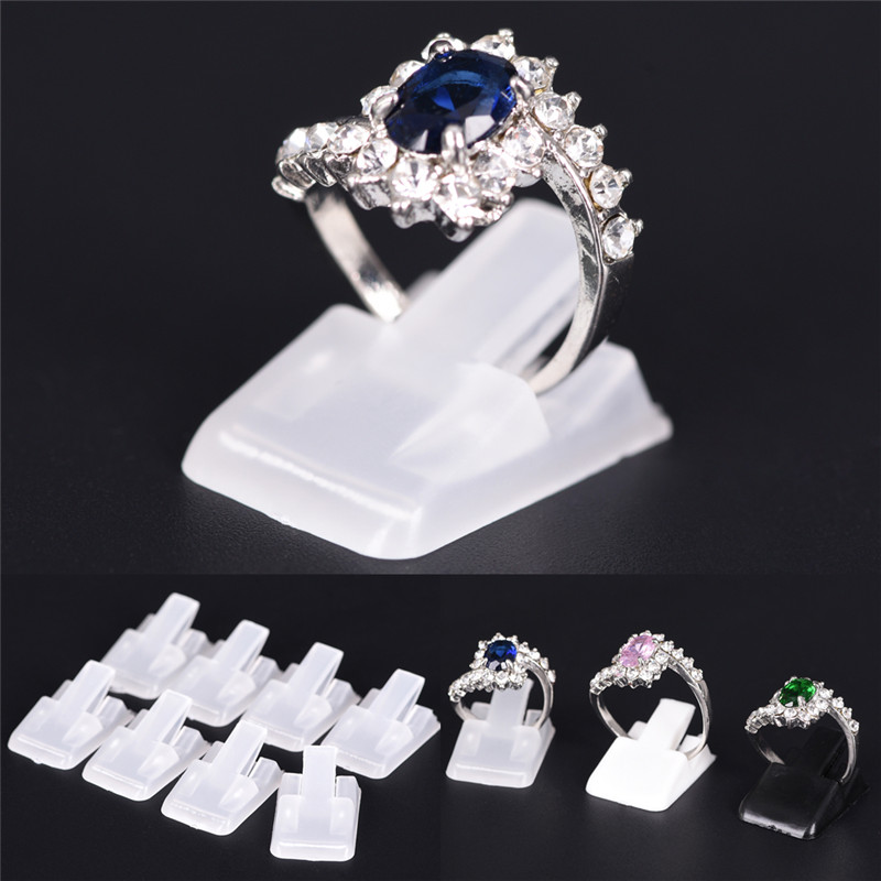 10pcs/Lot Ring Show Plastic Frosted Jewelry Displays Holder For Ring, Decoration Stand