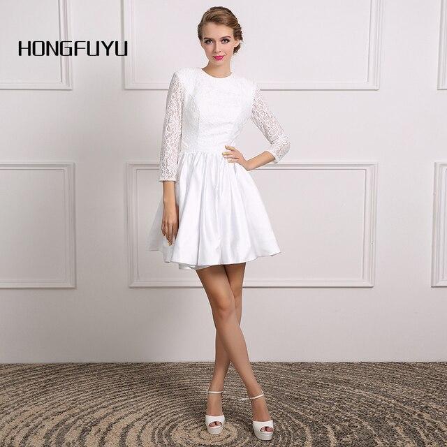 Vestidos blancos manga tres cuartos