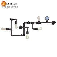 Цена оптовой продажи водопровод бра Винтаж светильники Лофт железа бра идеально соответствующим Эдисон лампа накаливания (BC 50)