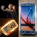 Kisscase moda selfie case para samsung s6 s7 do diodo emissor de luz do flash tampa do telefone móvel para galaxy s6 edge s7 edge iluminado coque