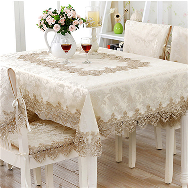 Superb Home Decorative Dinner Table Cloth European Style Velvet Jacquard  Embroidered Patch Work Square Round Tablecloths Covers