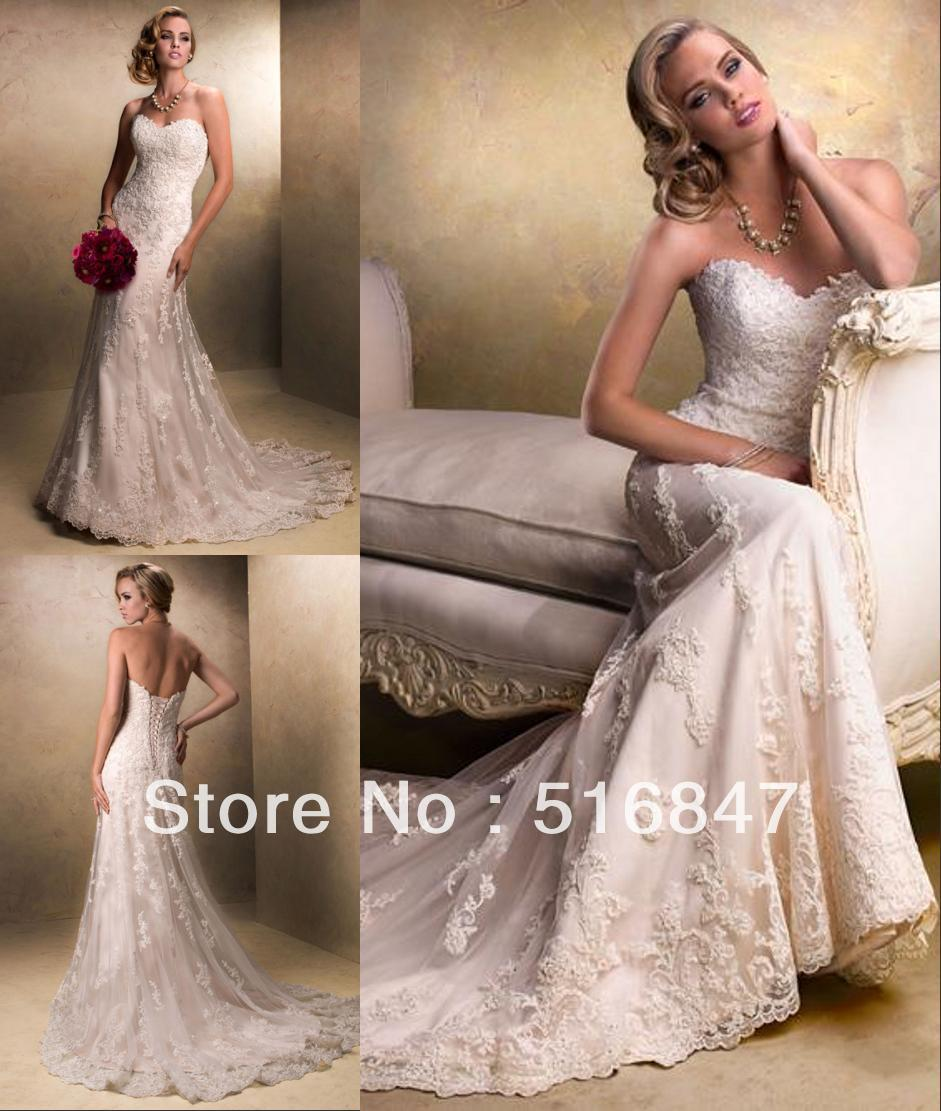 High Quality New White Ivory Mermaid Wedding Dresses